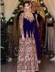 Blue Silk Achkan Style Salwar Kameez (nikvikonline) Tags: blue bluesalwar bluekameez salwarkameez designerwear kamiz kamizonline womenfashion womenclothing womenswear women weddingdress wedding weddingwear wear dress dresses
