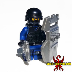 SWAT (Saber-Scorpion) Tags: lego minifig minifigures minifigs moc brickarms brickwarriors swat police specialforces soldier cop