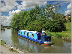 Melody Too Two (Jason 87030) Tags: sky dramatic drama clouds weather braunston boat melody too two 2 2017 woman narrowboat blue water reflection towpath village county northants northamptonshire leisure craft vessel cut july