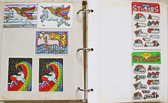 Decal Specialties (BJ) (thesilvergardens) Tags: vintage 80s 1980s bj decal specialties stickers collection unicorn album prism