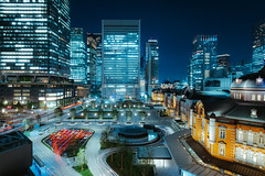 Night View of Tokyo Station (gshirt1222) Tags: nightview longexposure longtimeexposure tokyostation station tokyo xpro2 fuji fujifilm fujinon fujiusers xf14mm xf14 xf14mmf28 14mm wideangle wideview wide building architecture