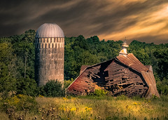 Stand By Me (henryhintermeister) Tags: barns minnesota oldbarns clouds farming countryliving country sunsets storms sunrises pastures nostalgia skies outdoors seasons field hay silos dairybarns building architecture outdoor winter serene grass landscape plant cloudsstormssunsetssunrises