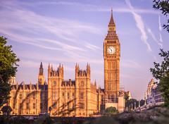 Westminster (IRRphotography) Tags: london westminster uk england unitedkingdom city parliament building architecture tower clock clocktower bigben victoriatower sunrise goldenhour clouds
