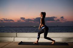Sunrise Yoga (jacksphotography) Tags: canon 40d alien bee strobe bowspring yoga corpus christi