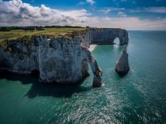 Étretat (mcalma68) Tags: etretat france normandy coast rocks seascape drone aerial dji phantom 4