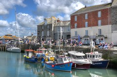 The harbour at Padstow, Cornwall (Baz Richardson (trying to catch up!)) Tags: cornwall padstow padstowharbour fishingboats yachts