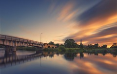 Sunrise Blast (Captain Nikon) Tags: longexposure sawley rivertrent river sunrise reflections harringtonbridge bridge blast allsaintschurch leicestershire derbyshire bigstopper 10stops srb10stopfilter moody nikond7000 sigma1020mmf4