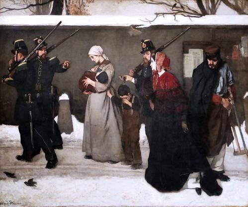 IMG_8951 Alfred Stevens. 1823-1905. Paris.   Le vagabondage ou les chasseurs de Vincennes. The vagrancy or the hunters of Vincennes. 1854.    Paris Orsay.