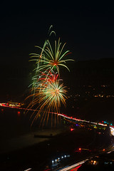 53 (morgan@morgangenser.com) Tags: pacificpalisaddes beach belairbayclub blue celebrate fireworks color iso100 july3rd loud nikon night ocean orange pch people red reflection special spectacular streaks timeexposire tripod yellow amazing