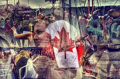 Proud to be... (Paul B0udreau) Tags: canada ontario niagara paulboudreauphotography nikon nikond5100 photoshop street canadaday red canadianflag canada150 hamilton tallships bandodekvar people water