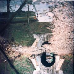 Tunnel (newmandrew_online) Tags: filmisnotdead film ishootfilm filmphotografy minsk belarus tunnel train surrealism surreal сф пленка reflex portal 6x6 kiev88 verikolor color outdoor art