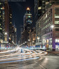 8th Avenue (20170701-DSC06158) (Michael.Lee.Pics.NYC) Tags: newyork 8thavenue columbuscircle worldwideplaza night longexposure lighttrail traffictrail streetscene architecture cityscape sony a7rm2 zeissloxia50mmf2