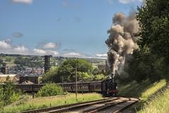 Arduous Climb (4486Merlin) Tags: 43924 england europe exlms heritagerailways keighleyworthvalleyrailway mr4f060 northeast railways steam transport unitedkingdom westyorkshire keighley gbr vintagetrainevent