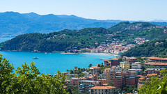 Lerici Postcard Style w/ Blown out colors (TMurrayPhoto) Tags: lerici italy harbor cove picturesque beautiful paradise laspezia legurian forests city town
