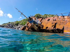 St. Kitts Shipwreck (nikkinicknicol) Tags: shipwreck ship st kitts island ocean vessel caribbean sea shores rock