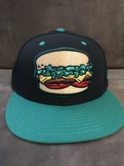 2017 Albuquerque Isotopes Alternate Green Chile Cheeseburgers Hat (black74diamond) Tags: 2017 albuquerque isotopes alternate green chile cheeseburgers hat