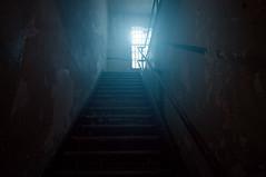 Staircase (Darren LoPrinzi) Tags: stairs staircase window windows light sunlight sunglare sunflare glare flare indoors indoor alcatraz sanfrancisco ca california sanfranciscoca west westcoast texture gritty prison jail old historic iconic landmark