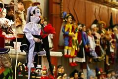 Somewhere In Prague (edlion259) Tags: prague praga repubblicaceca czechrepublic marionette puppet shop red rosso loutka colori colours blackandwhite flower fiore