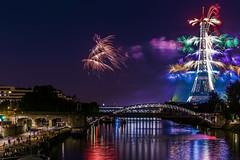Le Quatorze Juillet (PokemonaDeChroma) Tags: lequatorzejuillet bastilleday paris france fireworks eiffeltower 14juillet feudartifice fetenationale