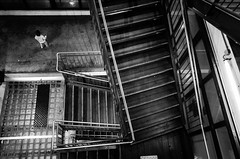 R0041002 (alex bo.) Tags: ricohgr ricoh street streetphotography parking escalier staircase stairway night people rue nantes urban city souterrain noiretblanc blackandwhite monochrome mono bw