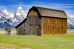 Barnes of Mormon Row II (rschnaible) Tags: barn western us usa grand teton national park mormon row landscape mountains sightseeing tour touring wyoming building architecture