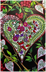 Hearts a'flower (ronniesz) Tags: visualarts flowers heart derwentinktensepencilswhimsical coloring adultcoloring