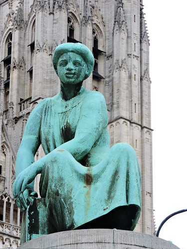 Seated woman, Banque Nationale de Belgique, Brussels