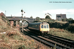 c.1970 - Plymouth, Devon. (53A Models) Tags: britishrail pressedsteel class121 bubblecar railcar diesel passenger royalalbertbridge signalbox plymouth devon train railway locomotive railroad