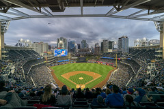 Cubs Vs. Padres (clarsonx) Tags: sandiego california petcopark chicagocubs sandiegopadres nightgame baseball dusk twilight clouds city cityscape downtown lastrow ball game sports ballpark skyline