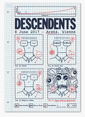 Descendents Gig Poster (Michael Hacker Illustration) Tags: siebdruck serigraphy screenprint descendents gigposter poster rock punk milo arena wien vienna illustration farts coffee deecracks notontour