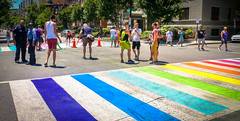 2017.06.10 Painting of #DCRainbowCrosswalks Washington, DC USA 6382