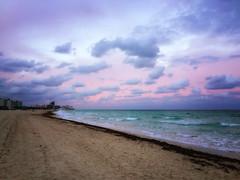 Miami Beach Sunset (` Toshio ') Tags: toshio miami miamibeach florida usa beach america clouds sand shore atlantic atlanticocean ocean sea waves iphone seaweed