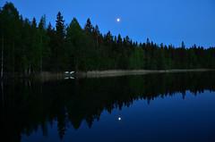 Lake Valkjärvi (Villikko) Tags: night yö ilta evening dark pimeä sunset auringonlasku nikon nikond5100 nikonphotography d5100 maisema landscape finland suomi kesä summer
