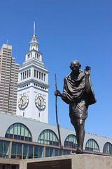 Mohandas K. Gandhi, Embarcadero (New York Big Apple Images) Tags: sculpture bronze ferry california sanfrancisco gandhi embarcadero