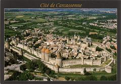 postcard - Carcassonne 7 (Jassy-50) Tags: postcard carcassonne france unescoworldheritagesite unescoworldheritage unesco worldheritagesite worldheritage whs aerial