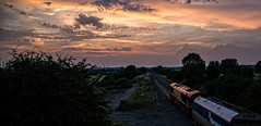 The evening sky (2) (Peter Leigh50) Tags: ews dbcargo dbs freight train hopper class 66 shed kibworth wistow road bridge sunset sky skyscape clouds pink grey leicestershire rural countryside landscape uk canon eos 6d