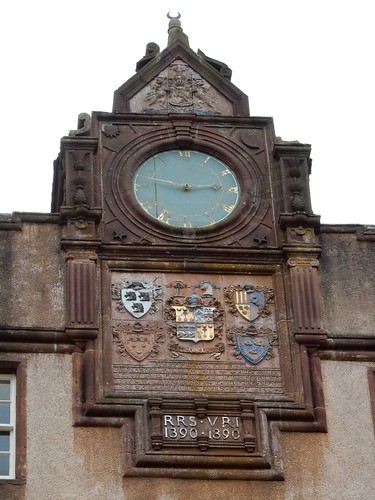 Clock and coats of arms, Fyvie Castle