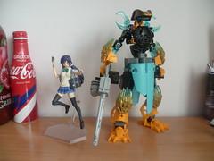 First Figma & Dodeka WIP! (Toxic Geek) Tags: bionicle lego moc ccbs figurine figure figma love live nozomi tojo