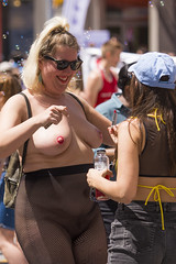 DUN_7863r (crobart) Tags: toronto pride dyke march pretty girls boobs tits breasts heavy hangers nude naked nipples
