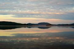 Sunrise over a Mountain Lake (rachel.odonnell_3) Tags: sunrise mountains adirondack lake water sky blue yellow pink morning reflection