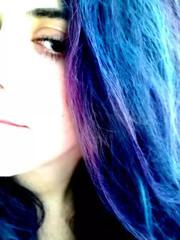 Blue hair, don't care.. (Daniella Velings) Tags: me ik ikzelf piecesofme daniella bluehair blauwhaar haar hair colour kleur selfportrait selfie