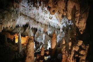 The varied Moonmilk wall of the Demänovské Caves