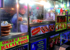 Late dinner (GerryL) Tags: gerryl newyork ny canonpowershotg9xmarkii timesquare broadway halalfood foodtruck