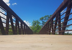 Bridge. (dgoldtography) Tags: bridge summer ontario canada outdoor outdoors blue sky clouds cloud samsung s7 photo photography photograph nature wormseyeview down look lookdown below