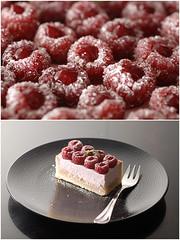 Lignac Raspberry Tart, slice (Pitzpootzim) Tags: cyrillignac patisserie pastry pie tart french raspberry mascarpone fruity