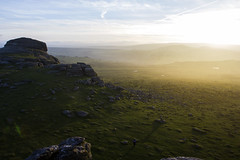 Dartmoor Sunset (clementsriley) Tags: sunset dartmoor haytor rock rocky yellow orange landscape moody canon 1740mm 1740 17 550 550d