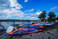 DSC00820 (Damir Govorcin Photography) Tags: boats sky clouds trees wide angle natural light windsurfers rose bay sydney zeiss 1635mm sony a7rii
