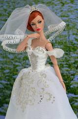 Giselle (Dolldiva67) Tags: poppy portrait integritytoys fashionroyalty bride white mood red hair moodchangers redhaireddolls funny face audrey hepburn paris giselle ballet ballerina sylph