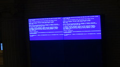 Blue Screen on Electronic Display (Aaron F. Stone) Tags: electronic screen computer windows microsoft epicfail unionstation union station washingtondc washington amtrak blue bluescreen bsod bluescreenofdeath