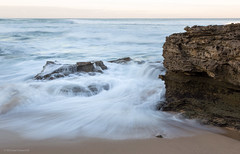Sea at sunrise (michaelgreenhill) Tags: gunamattaoceanbeach morning victoria beach ocean sandy landscape australia gunamatta water morningtonpeninsula sunrise sand rocks shore fingal au